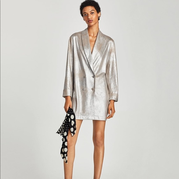 1e73c7cc Zara Metallic Tuxedo Dress XS. M_5aab5e1f8df4709180f67e2e